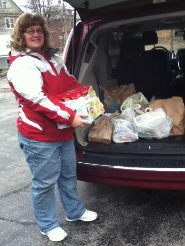 Karen Goddard- food drive 12.17.15