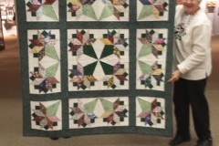 teresa winner of raflle quilt to benefit community service