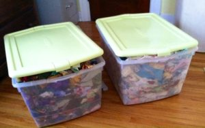 pre-clean out bins-lids won't close
